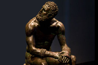 The Terme Boxer, Classical Greek bronze statues melted and destroyed