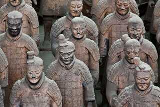 Qin Shi Huangdi's terracota underground army